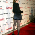 Amber Tamblyn seamed pantyhose